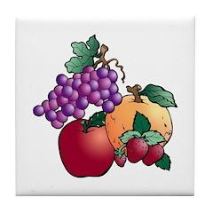 Nature Art Fruit Design Tile Coaster