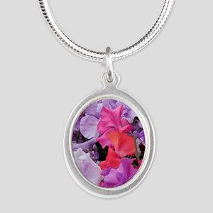 Sweet peas flowers in bloom Necklaces