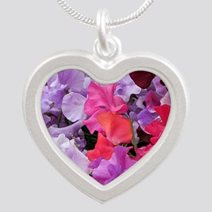 Sweet peas flowers in bloom Necklaces
