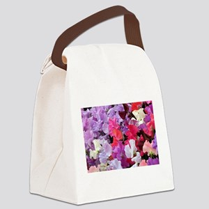 Sweet peas flowers in bloom Canvas Lunch Bag