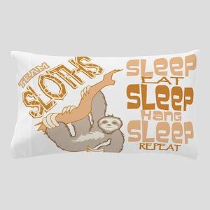 Sloth Sleep Eat Hang Pillow Case