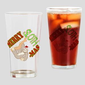 Sloth Merry Christmas Drinking Glass