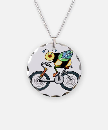 Bee on a Bike Necklace