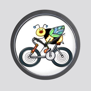 Bee on a Bike Wall Clock