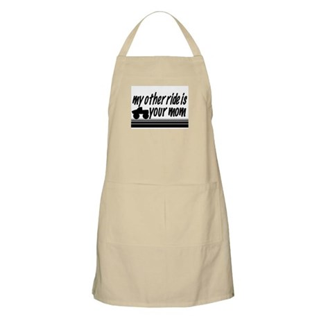 My Other Ride is Your Mom BBQ Apron