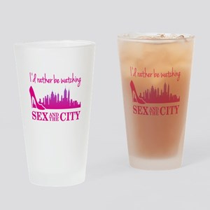 Watching Sex and The City Drinking Glass