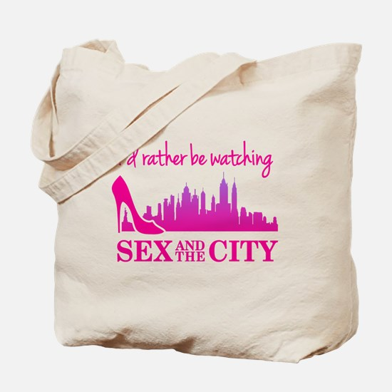 Watching Sex and The City Tote Bag