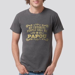 Funny Papou Mens Comfort Colors Shirt