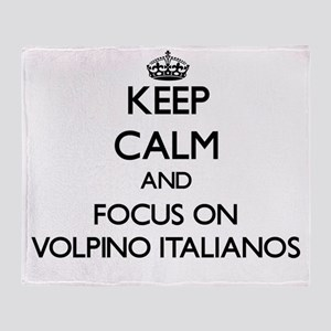 Keep calm and focus on Volpino Itali Throw Blanket