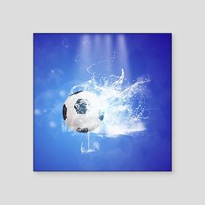 Soccer with water slpash Sticker