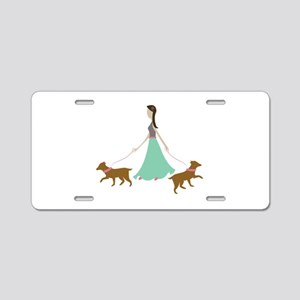 Walking Dogs Aluminum License Plate