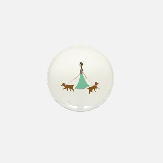 Walking Dogs Mini Button