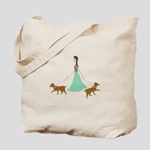 Walking Dogs Tote Bag