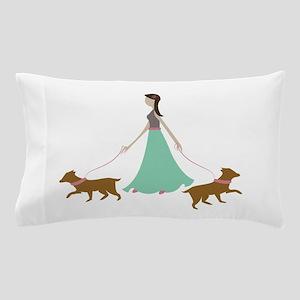 Walking Dogs Pillow Case