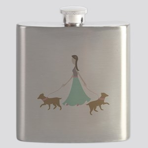 Walking Dogs Flask