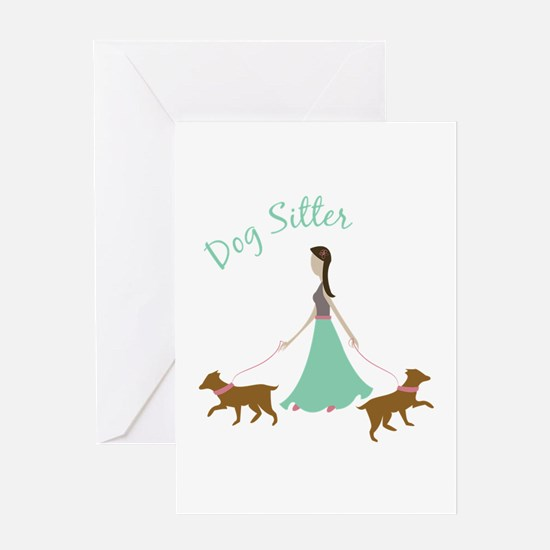 Dog Sitter Greeting Cards