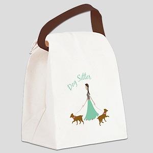 Dog Sitter Canvas Lunch Bag