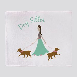 Dog Sitter Throw Blanket