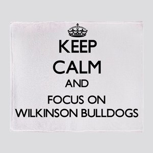 Keep calm and focus on Wilkinson Bul Throw Blanket