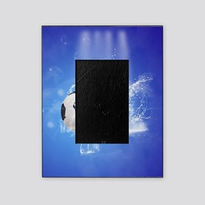 Soccer with water slpash Picture Frame