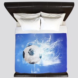 Soccer with water slpash King Duvet