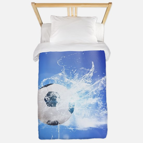 Soccer with water slpash Twin Duvet