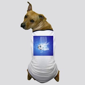 Soccer with water slpash Dog T-Shirt