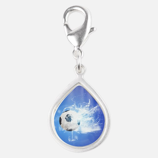 Soccer with water slpash Charms