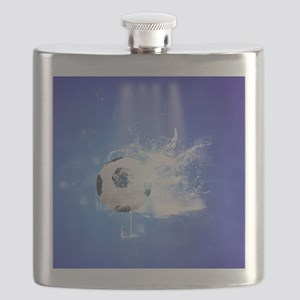 Soccer with water slpash Flask