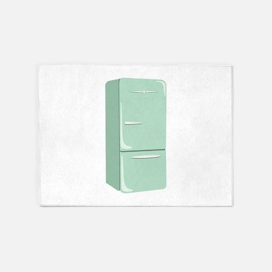Retro Refrigerator 5'x7'Area Rug