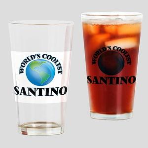 World's Coolest Santino Drinking Glass