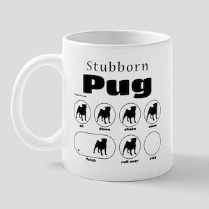 Stubborn Pug v2 Mug