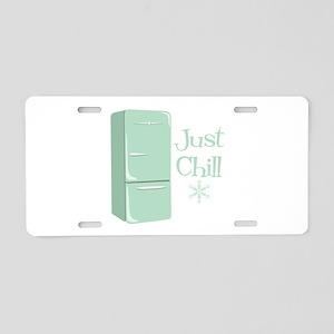 Retro Refrigerator Chill Aluminum License Plate