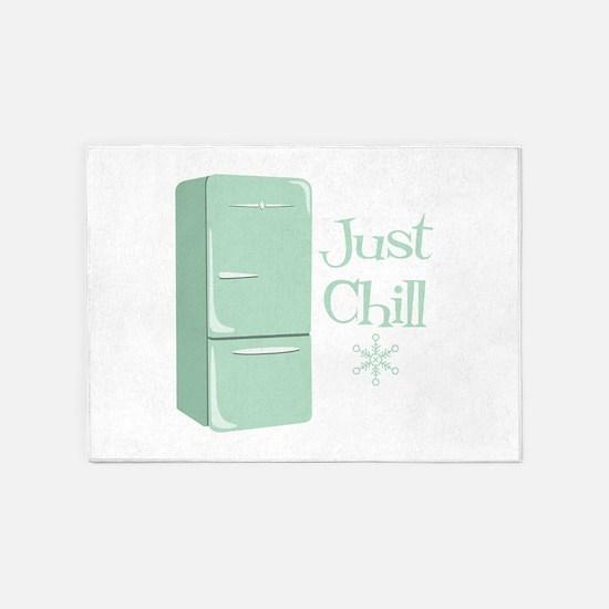 Retro Refrigerator Chill 5'x7'Area Rug