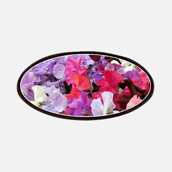 Sweet peas flowers in bloom Patches