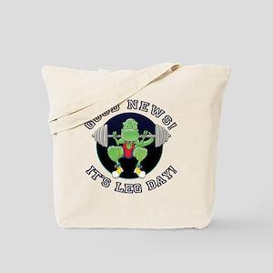 T-Rex. Good News Leg Day! Tote Bag