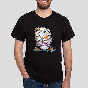 Ice Hockey Penguin (5) Dark T-Shirt