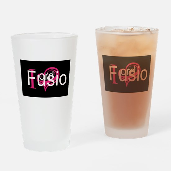 Love My Fusion Drinking Glass