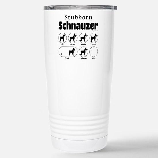 Stubborn Schnauzer v2 Stainless Steel Travel Mug