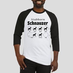 Stubborn Schnauzer v2 Baseball Jersey