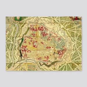 Vintage Map of Vienna Austria (1710 5'x7'Area Rug