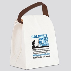 Golfer's Winter Blues Syndrome Canvas Lunch Bag