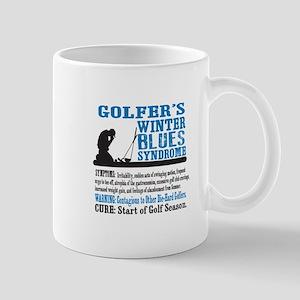 Golfer's Winter Blues Syndrome Mugs