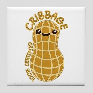 Cribbage Nut Tile Coaster