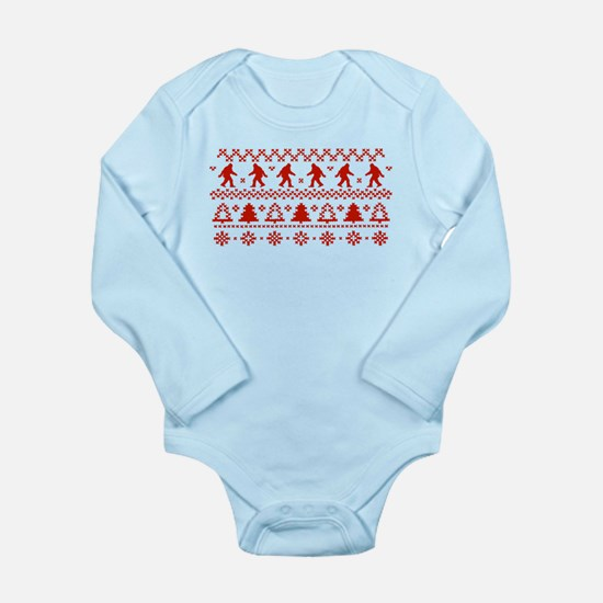 Sasquatch Ugly Christmas Sweater Body Suit