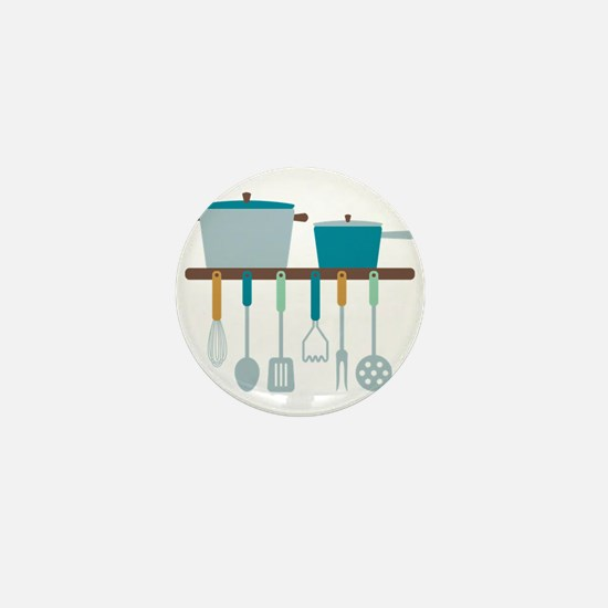 Kitchen Cooking Utensils Pots Mini Button