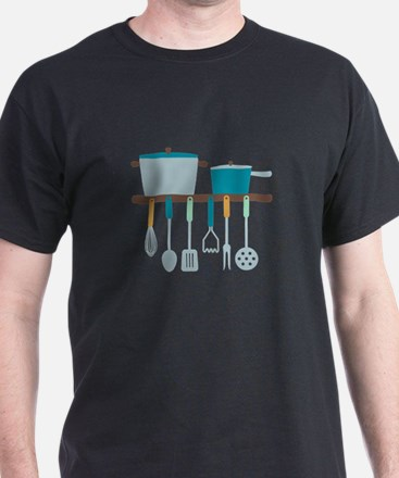 Kitchen Cooking Utensils Pots T-Shirt
