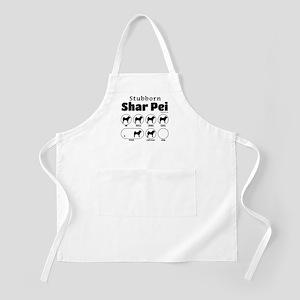 Stubborn Shar Pei v2 Apron