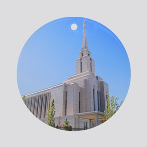 LDS Oquirrh Mountain Temple Ornament (Round)