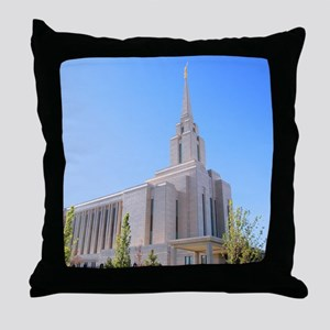LDS Oquirrh Mountain Temple Throw Pillow